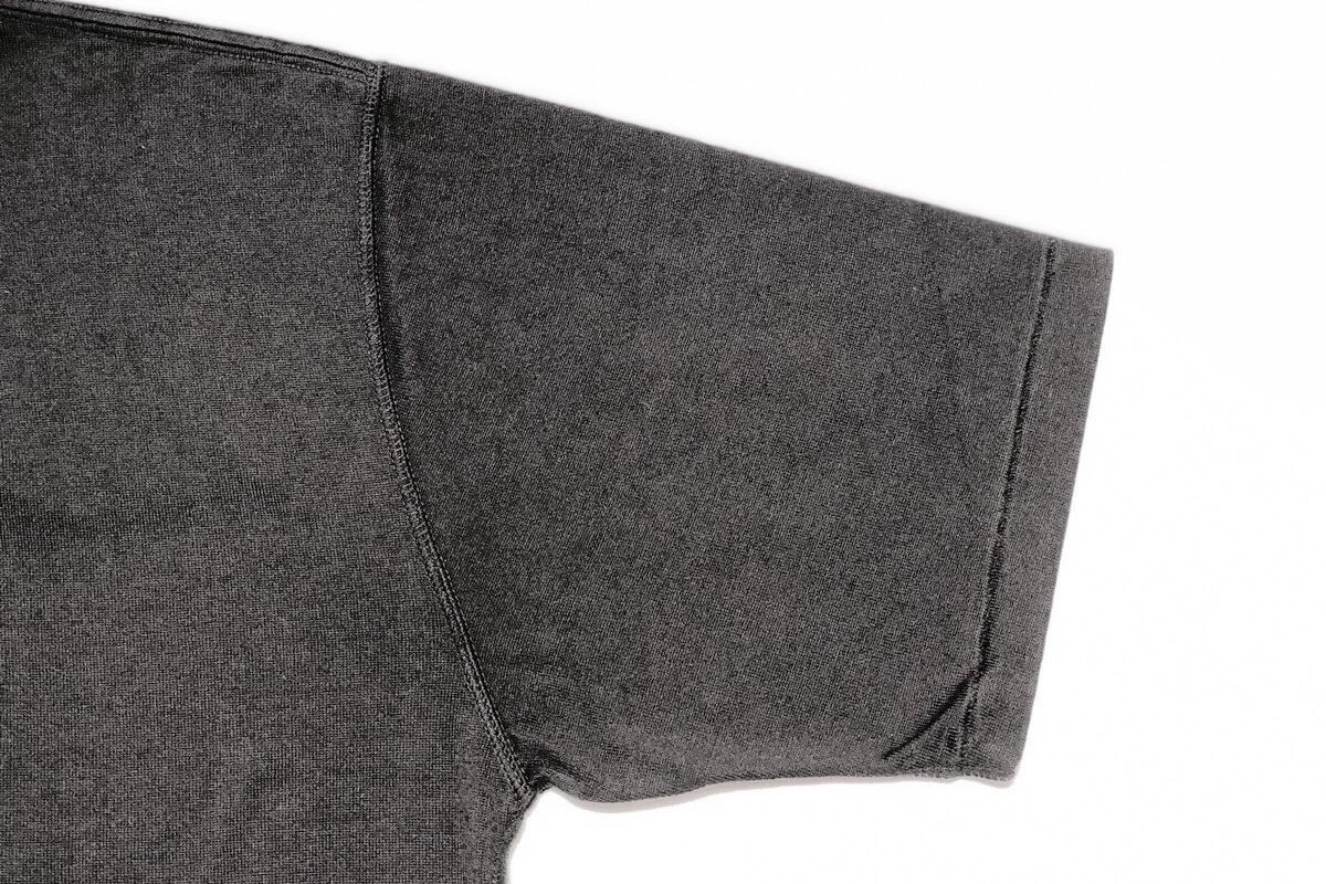 No Fuzzing v-tee ガス焼きTシャツ(black)