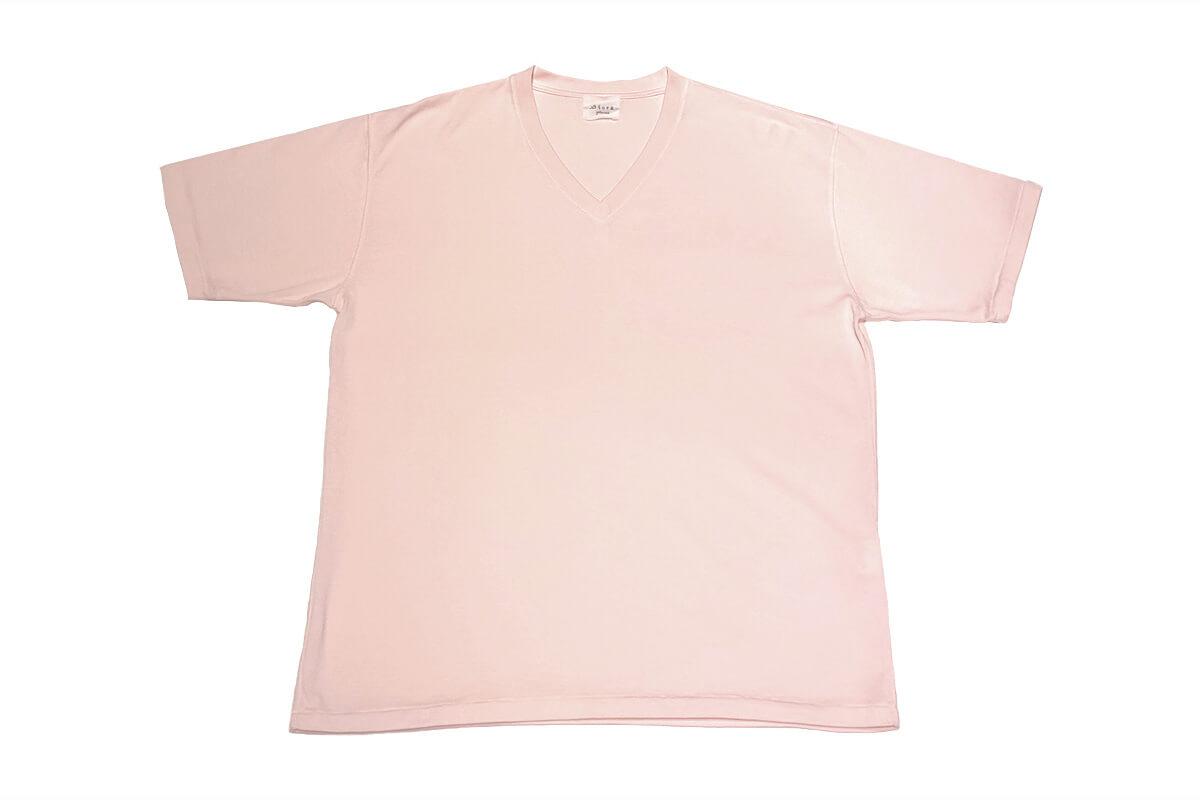 No Fuzzing v-tee ガス焼きTシャツ(pink)