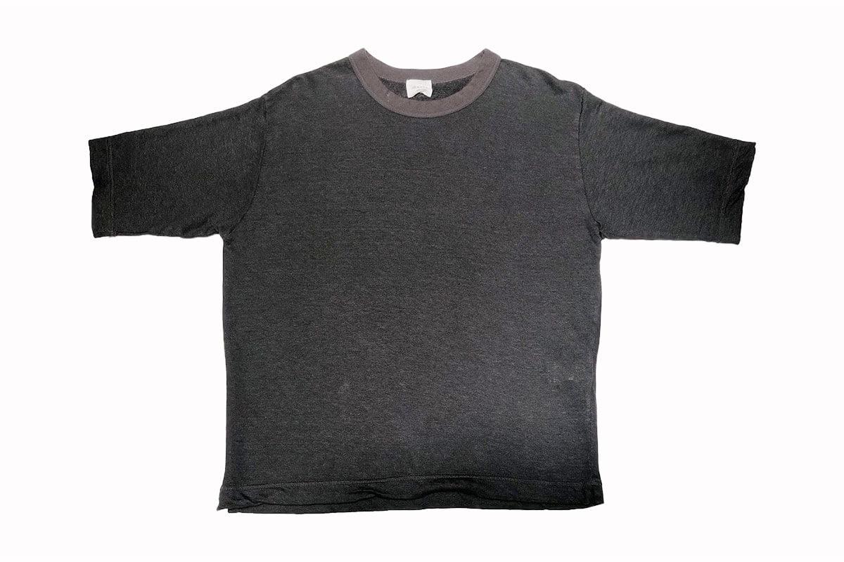 Linen loop knit tee リネン裏ループ Tシャツ(black)