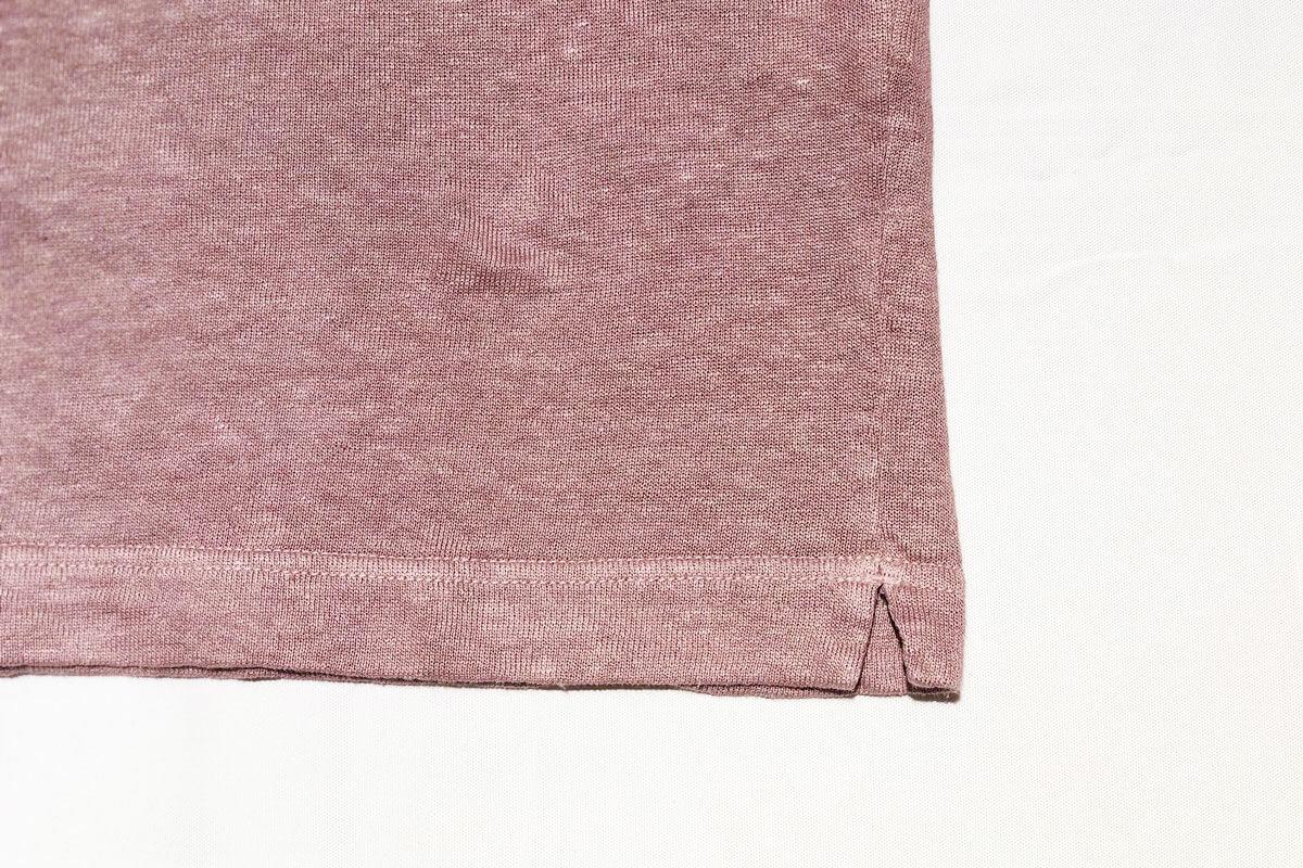 Linen loop knit tee リネン裏ループ Tシャツ(pink)