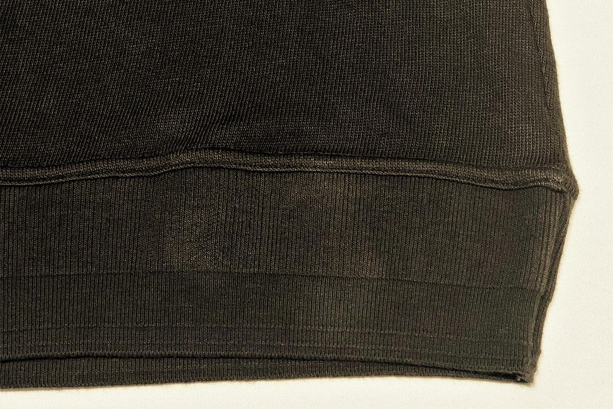 sweet twist rough gauge jersey Long tee ローゲージカットセーター(black green)