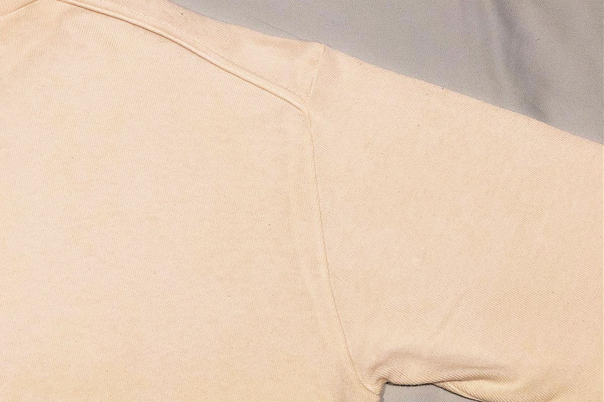 sweet twist rough gauge jersey Mock tee モックネックカットセーター(ecru)