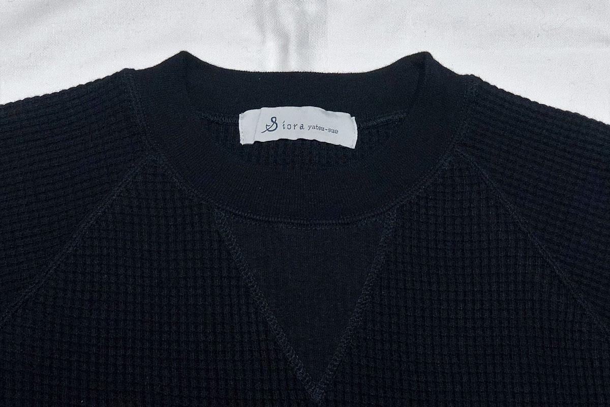 thermal like wool Raglan L/s tee ローゲージサーマルロンT(black navy)