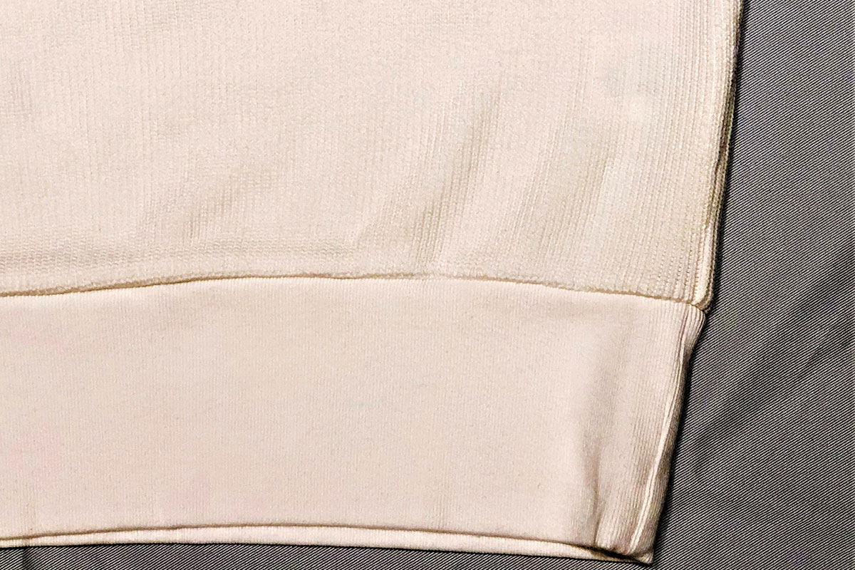 rib stitch knit reverse クルーネックスウェット(off)