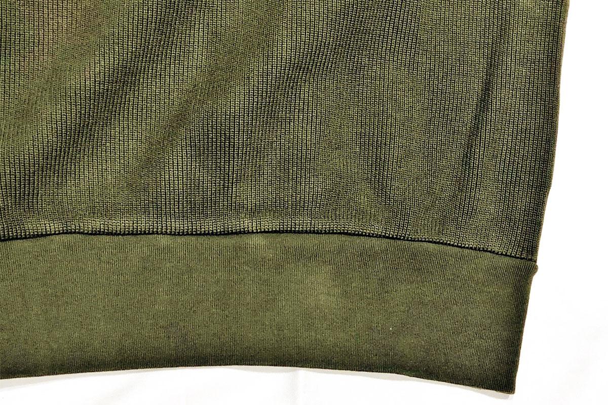 rib stitch knit reverse クルーネックスウェット(olive)