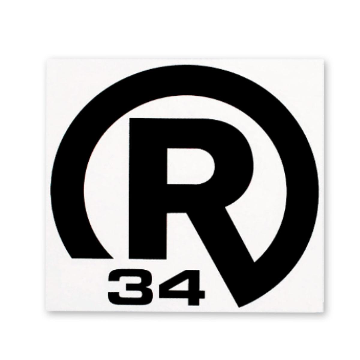 STICKER R34 Mサイズ
