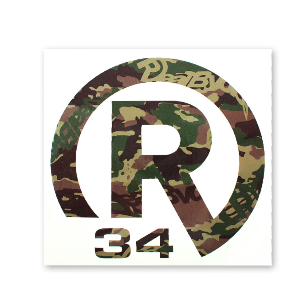 STICKER R34 CAMO  BIGサイズ