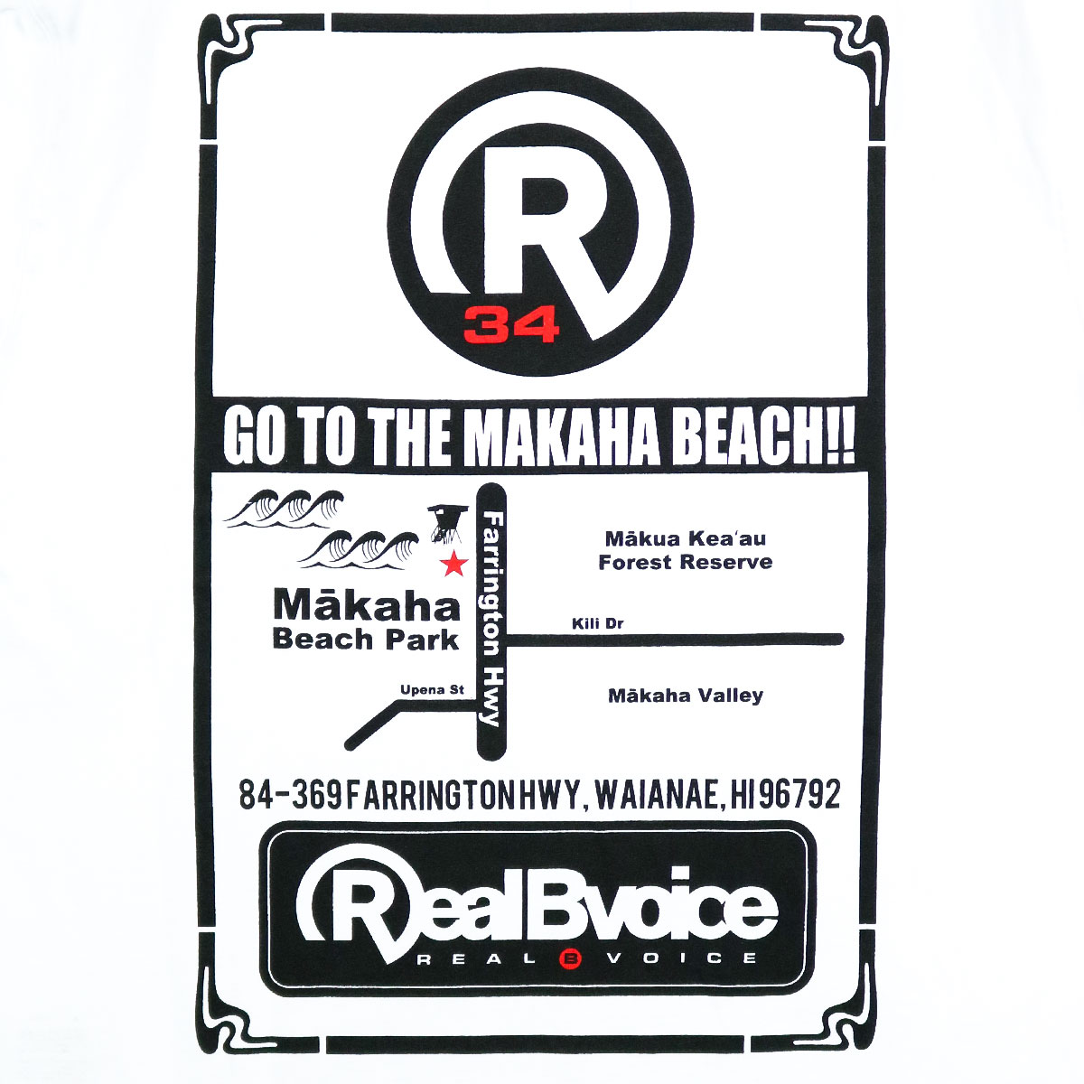 MAKAHA MAP T-SHIRT BIG SIZE
