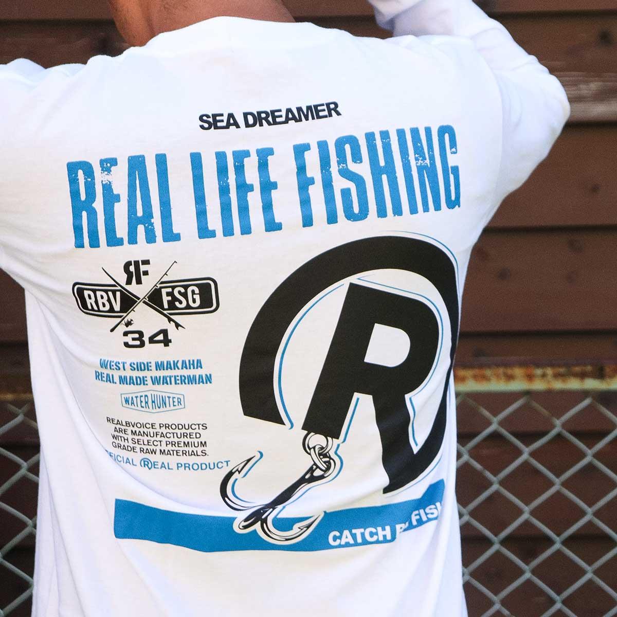 FISHING REAL LIFE LONG T-SHIRT