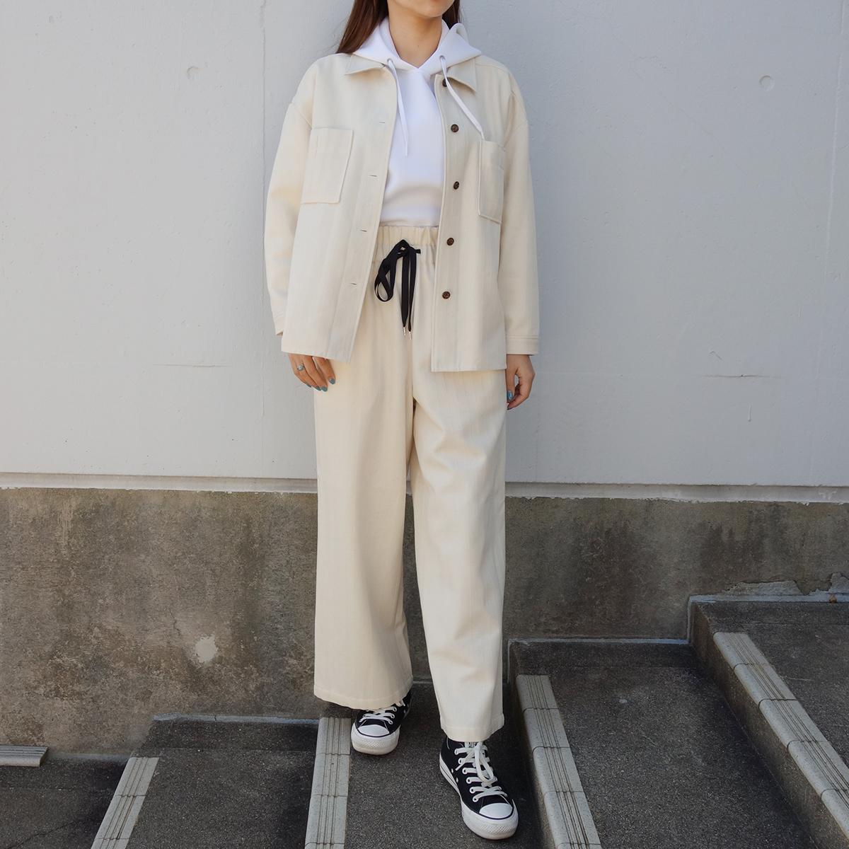 WOMEN`S MADE IN JAPAN WOOL HERRINGBONE JKT