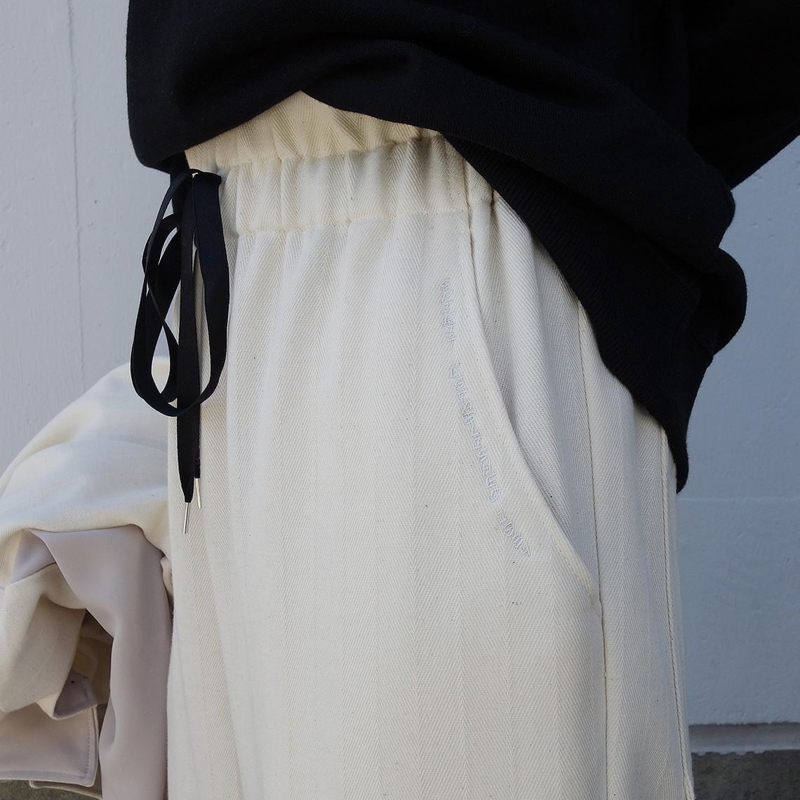WOMEN`S MADE IN JAPAN WOOL HERRINGBONE PANTS