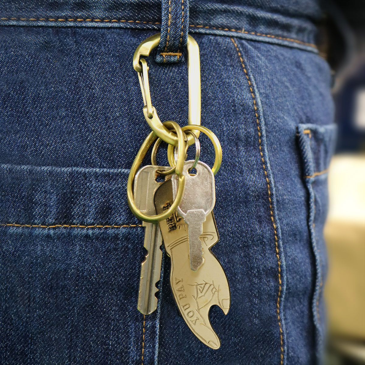 YOU PAY KEYCHAIN