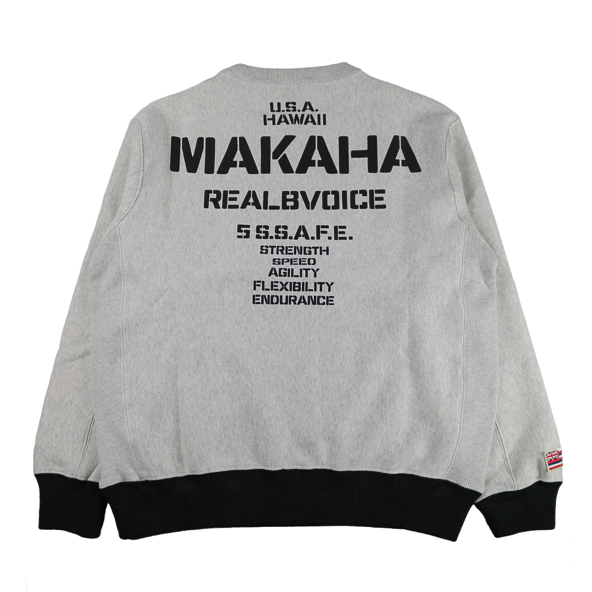 MAKAHA STENCIL CREW SWEAT SHIRT
