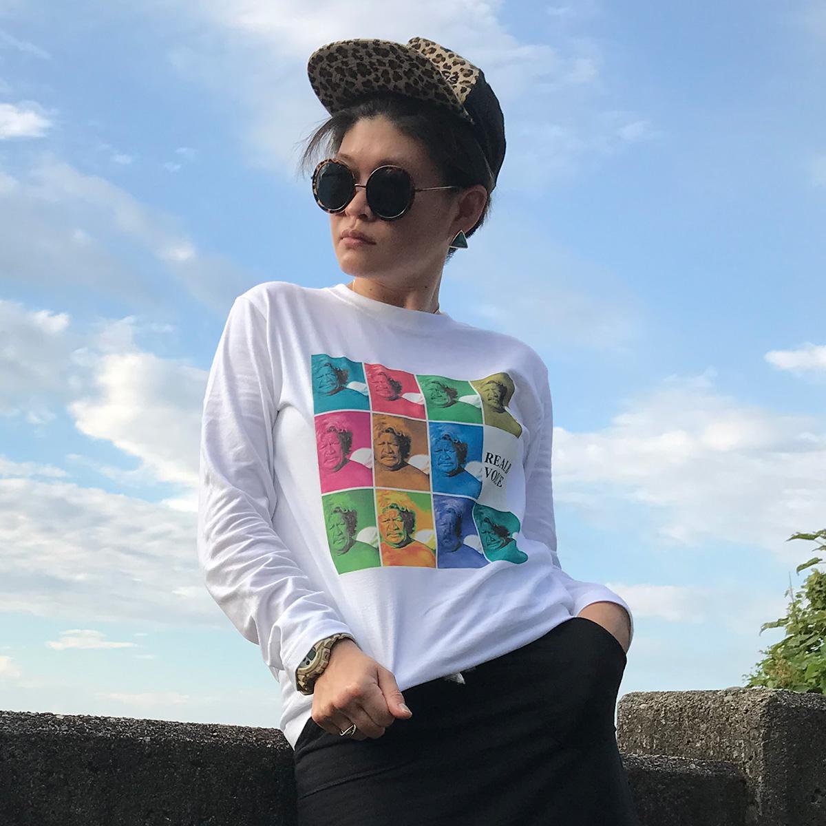 WOMEN'S BUFFALO PHOTO LONG T-SHIRT