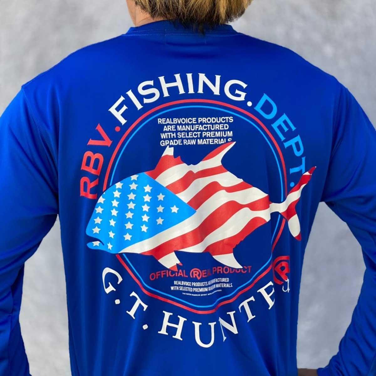 FISHING GT NATIONAL FLAG LONG DRY T-SHIRT