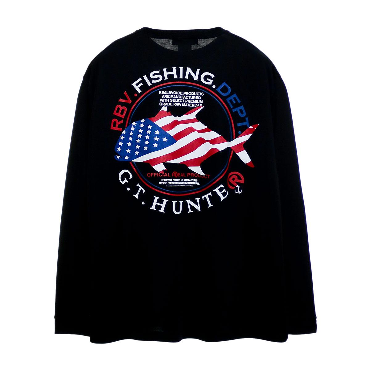 FISHING GT NATIONAL FLAG LONG DRY T-SHIRT BIG SIZE