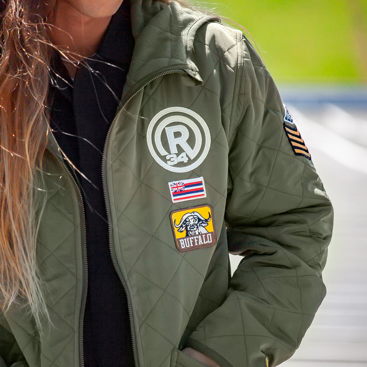 RBV ARMY EMBLEM QUILTING JACKET