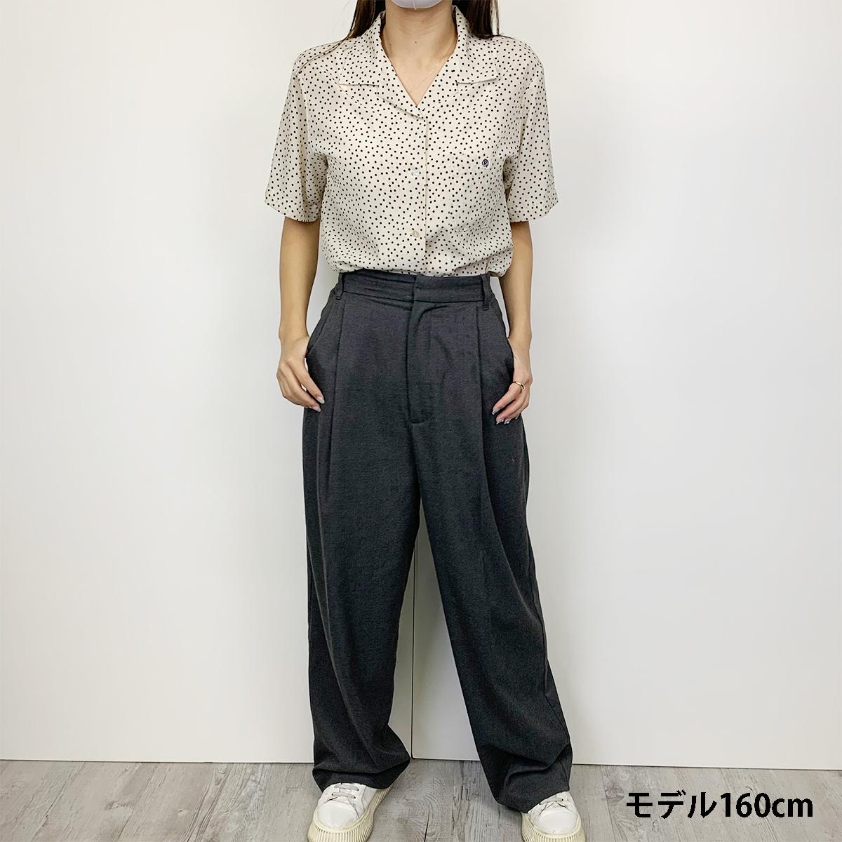 WOMEN`S MADE IN JAPAN DOT OPEN-COLLAR SHIRT