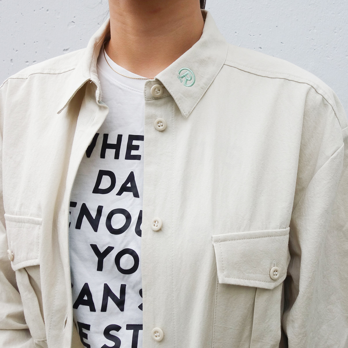 WOMEN`S MADE IN JAPAN R LOGO LONG SHIRT