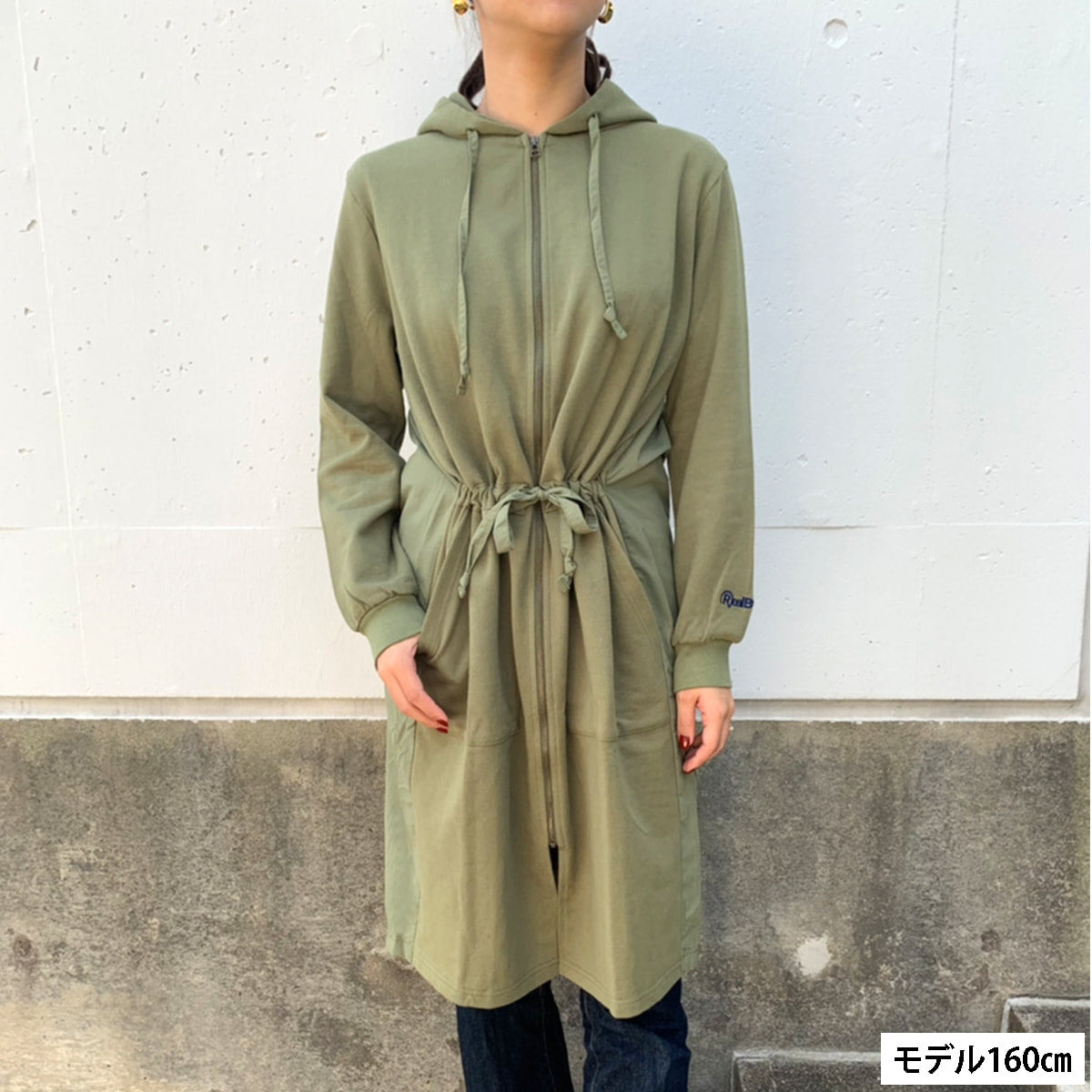 WOMEN`S MADE IN JAPAN LOGO LONG PARKA