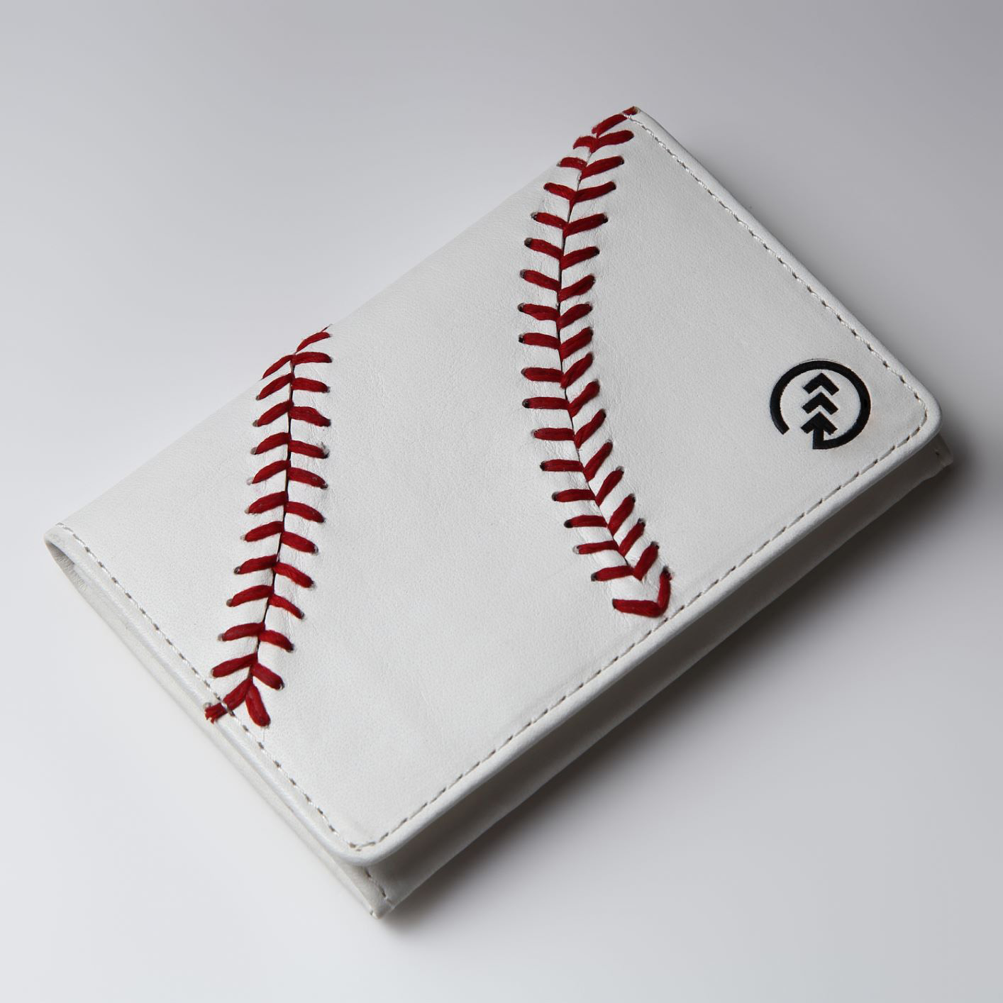 野球ボール革名刺入れ ハンドステッチ名刺入れ 【ホワイト】