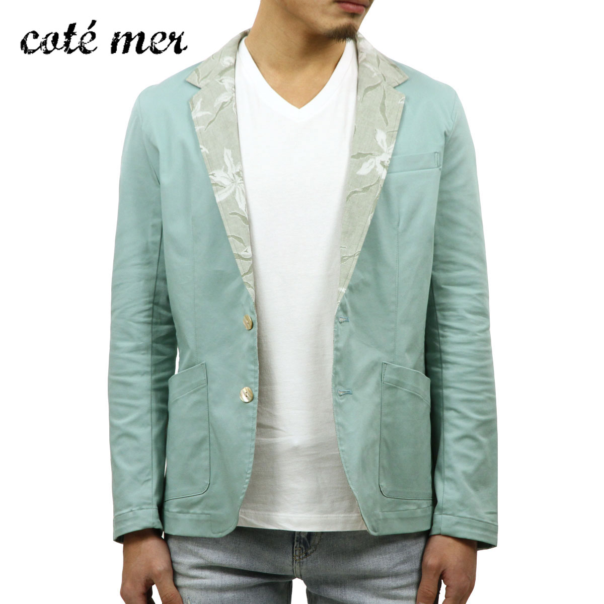 コートメール Cotemer メンズ テーラードジャケット tailoerd jacket JK-S13-009 GREEN A59B B1C C1D D4E E08F