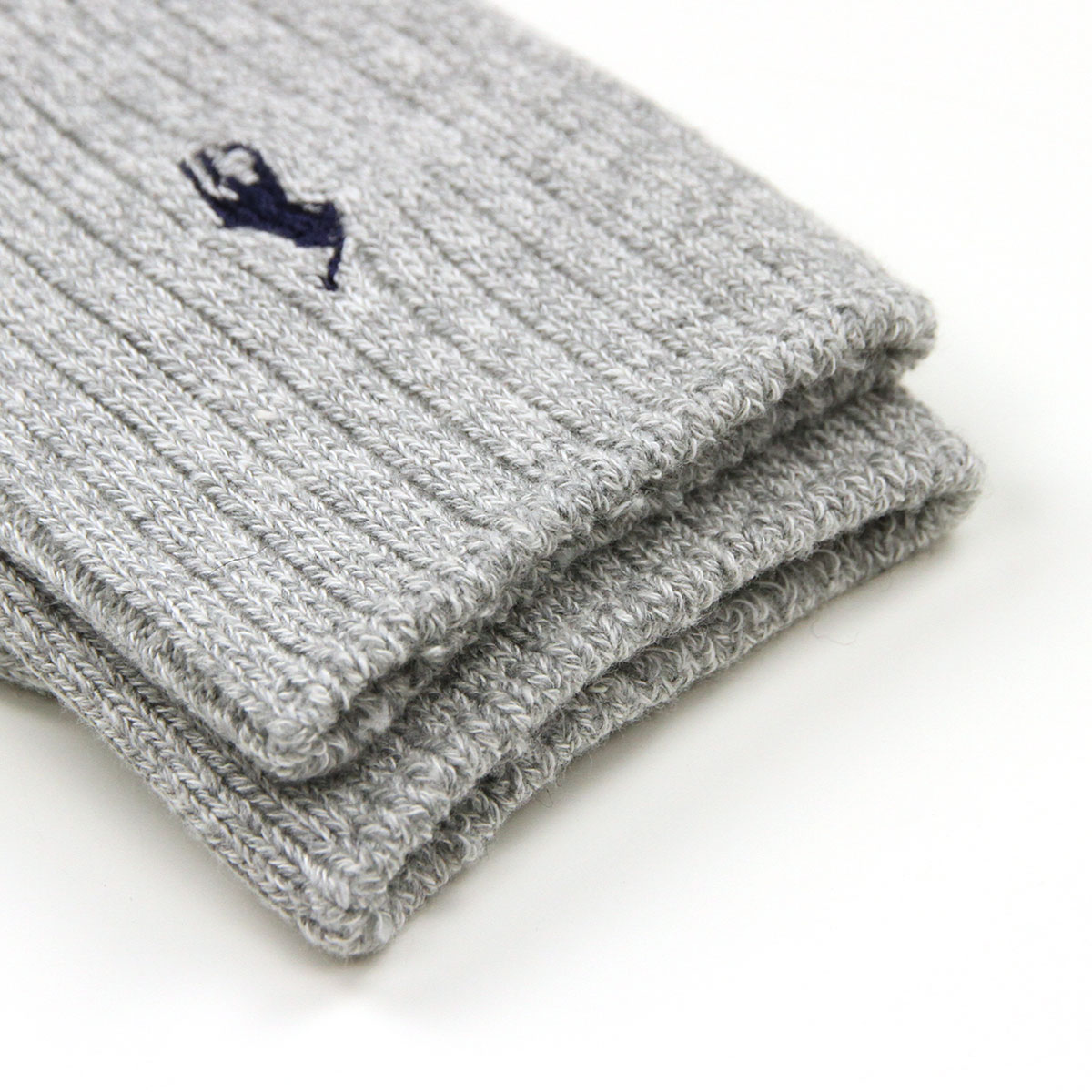 ポロ ラルフローレン POLO RALPH LAUREN 正規品 ソックス COTTON RIB SINGLE SOCK GREY.H 051 - GREY HEATHER A05B B1C C3D D1E E02F