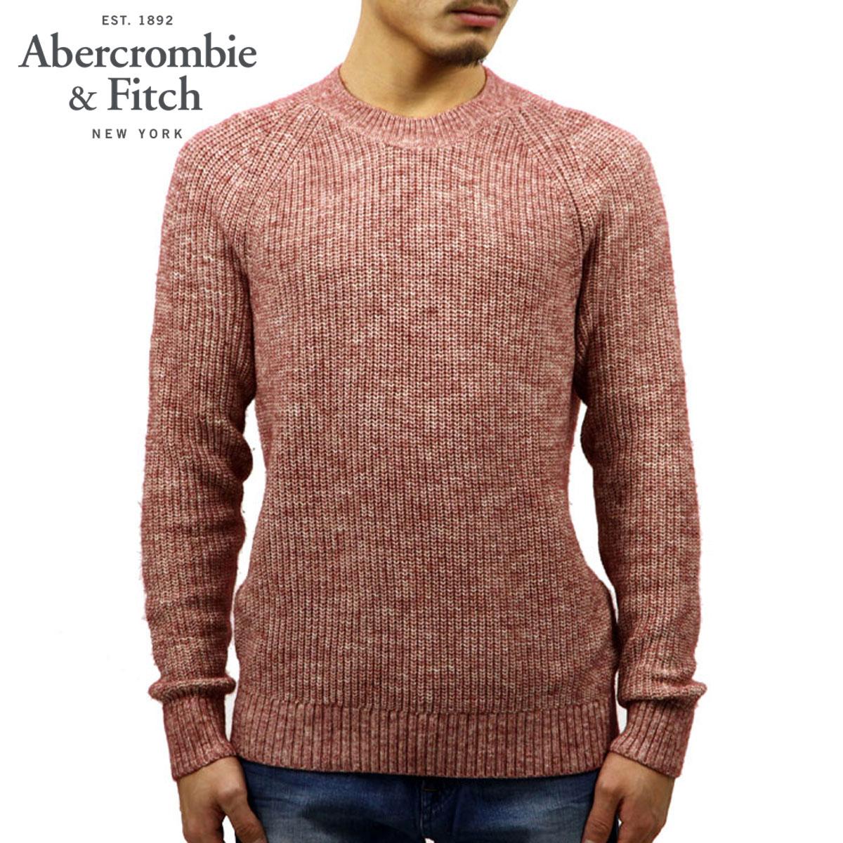 アバクロ セーター メンズ 正規品 Abercrombie&Fitch クルーネックセーター  CREW KNIT SWEATER 120-201-1116-610 A02B B1C C1D D7E E11F