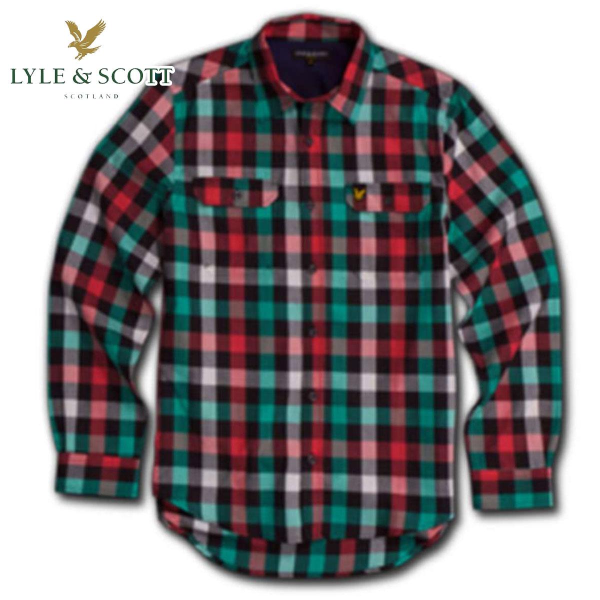 ライルアンドスコット LYLE&SCOTT BUTTON DOWN CHECK SHIRT ボタンダウンシャツ グリーンレッド 10P13Jun14 A27B B1C C1D D6E E13F ホワイトデー 2021 ラッピング無料