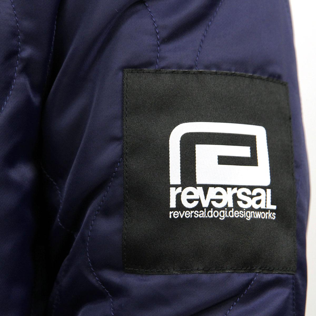 リバーサル REVERSAL 正規販売店 メンズ MA-1 リバーシブルジャケット アウター FANGS REVERSIBLE JACKT rv18aw003 NAVY x ORANGE A06B B1C C1D D4E E06F ホワイトデー 2021 ラッピング無料