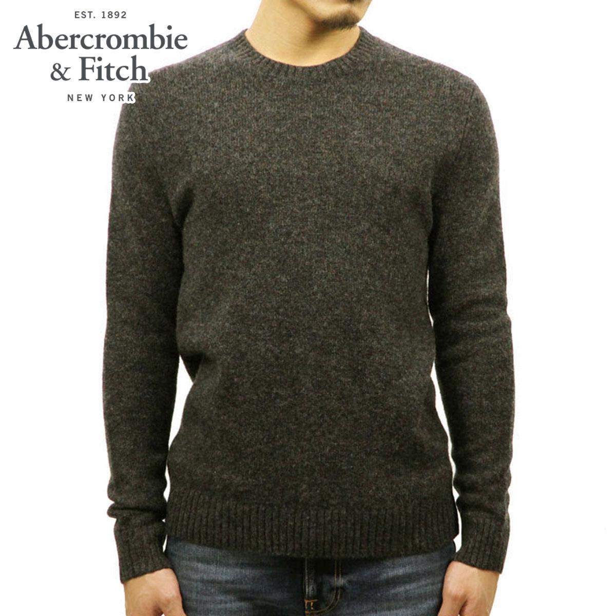 アバクロ セーター メンズ 正規品 Abercrombie&Fitch クルーネックセーター  WOOL FUZZY CREW SWEATER 120-201-1100-130 A02B B1C C1D D7E E02F