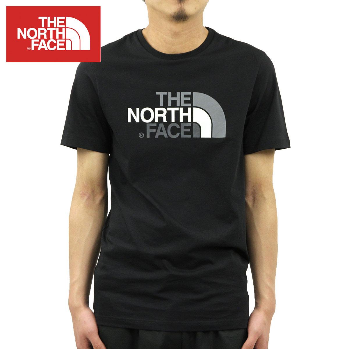 ノースフェイス Tシャツ メンズ 正規品 THE NORTH FACE 半袖Tシャツ クルーネック ロゴTシャツ SHORT SLEEVE EASY TEE NF0A2TX3 TNF BLACK A14B B1C C1D D1E E13F