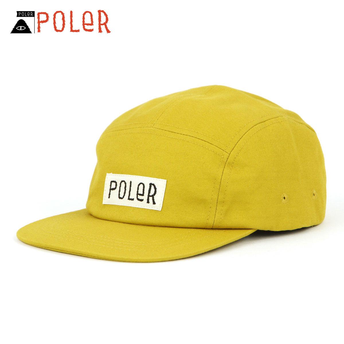 ポーラー キャップ メンズ レディース 正規販売店 POLER 帽子 5パネルキャップ FURRY FONT 5PANEL DRAWCORD CAP 55100007-MUS MUSTARD A79B B3C C3D D4E E12F