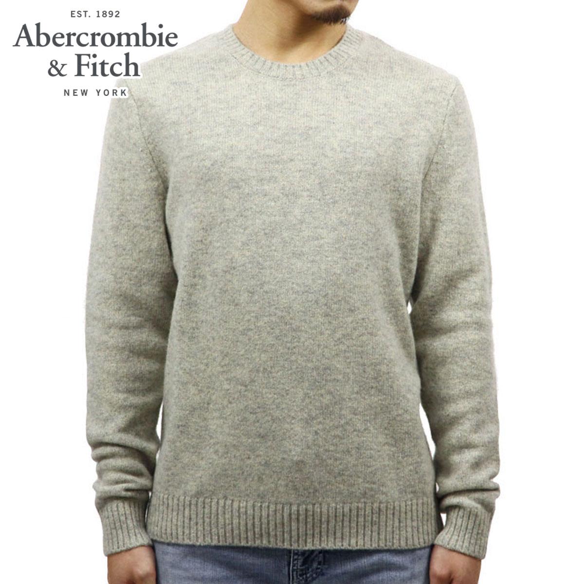 アバクロ セーター メンズ 正規品 Abercrombie&Fitch  WOOL CREW SWEATER 120-201-1046-120 A02B B1C C1D D7E E02F
