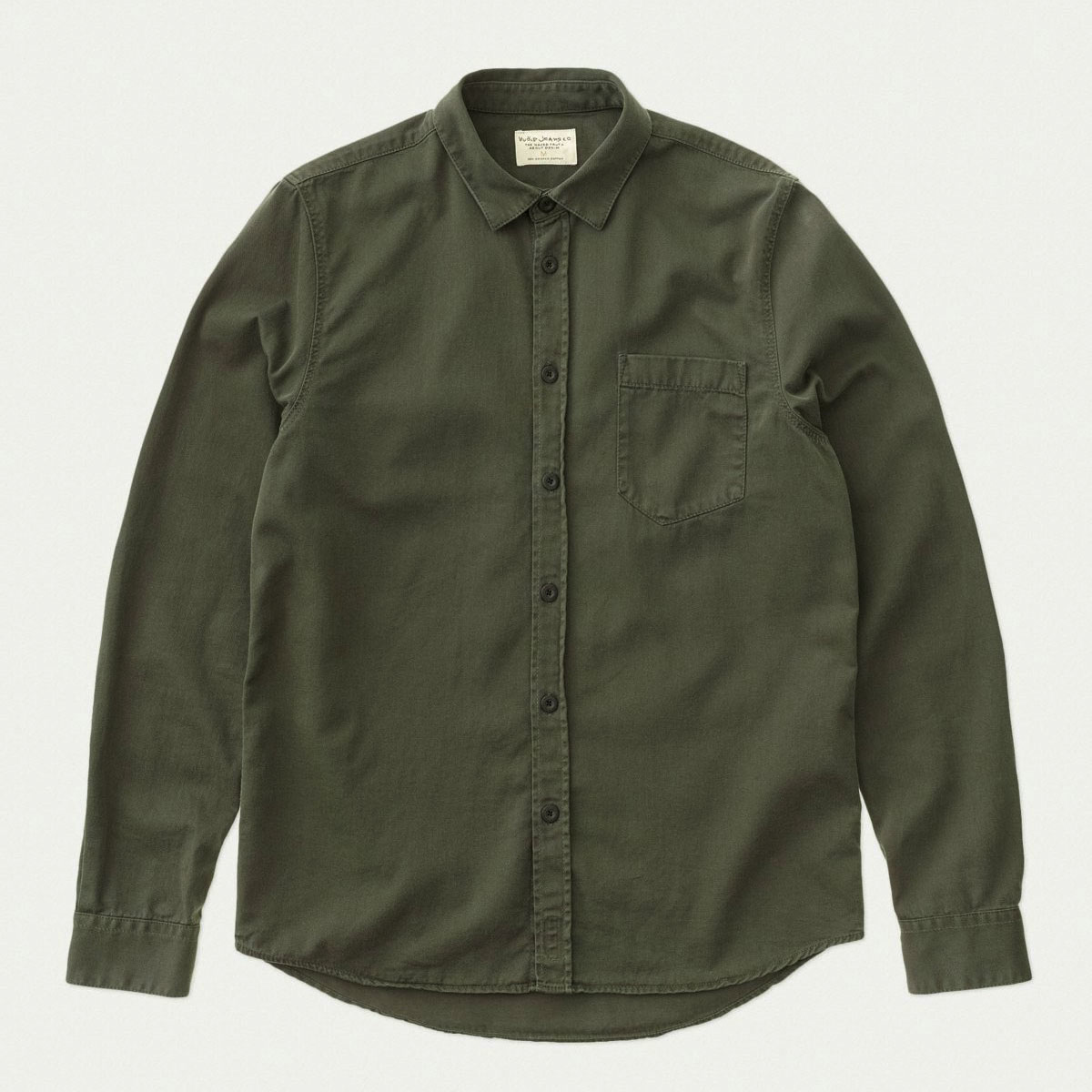ヌーディージーンズ シャツ メンズ 正規販売店 Nudie Jeans 長袖シャツ ワークシャツ  HENRY PIGMENT DYED SHIRT BUNKER B86 140501 A62B B1C C1D D6E E08F