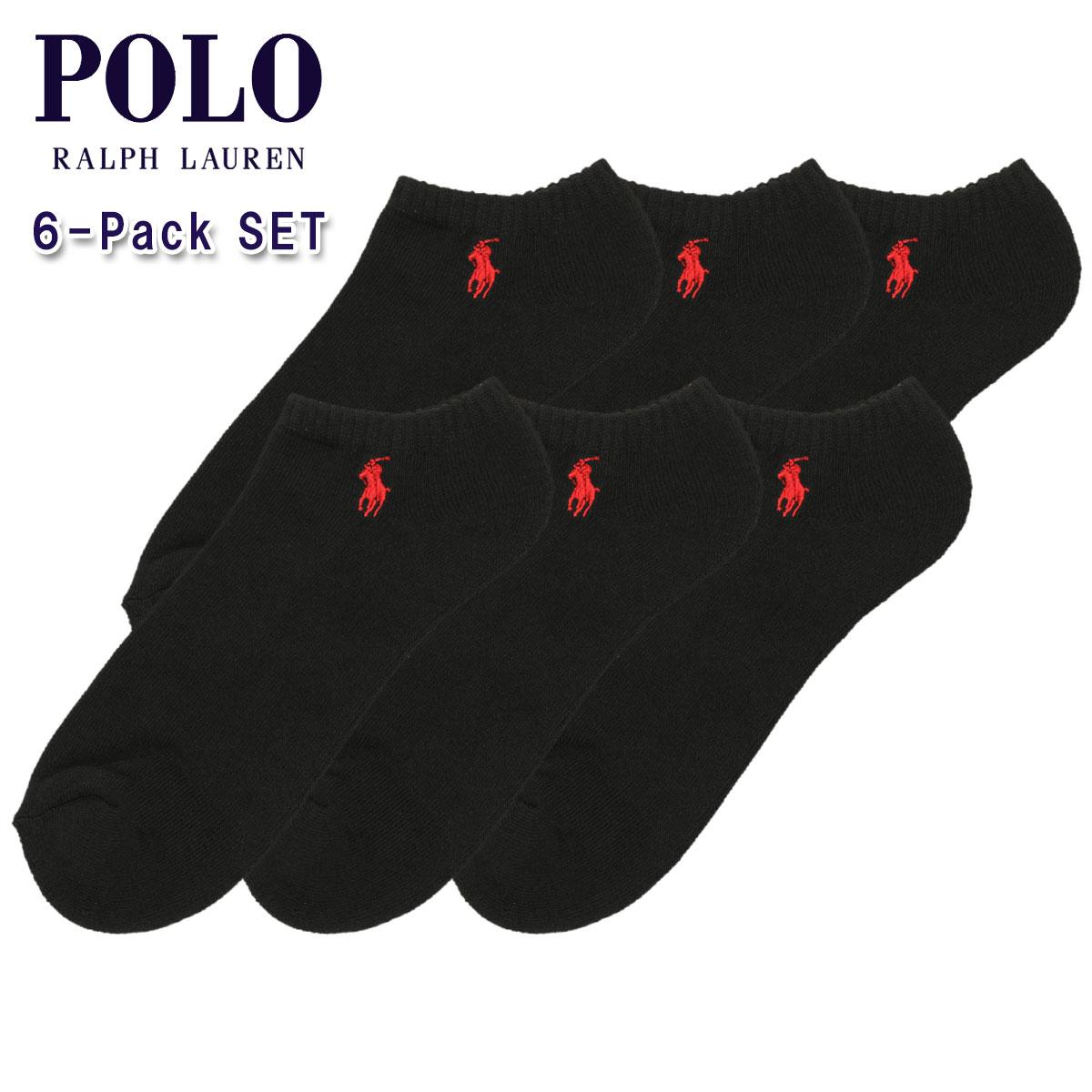 ポロ ラルフローレン POLO RALPH LAUREN 正規品 ソックス Ghost Sock 6足セット ブラック A05B B1C C3D D1E E13F