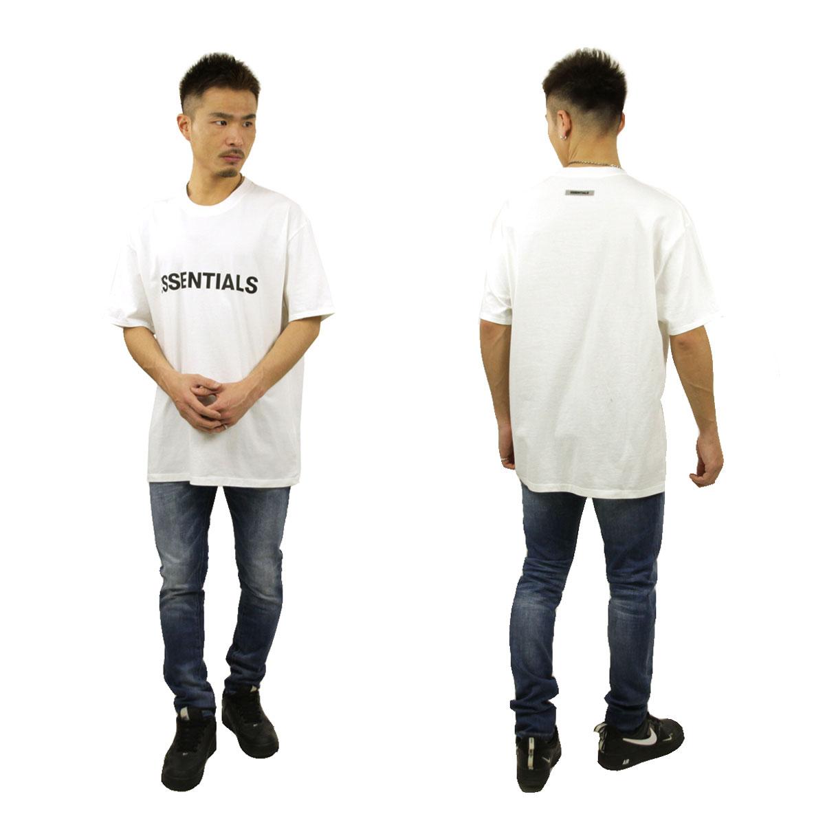 フィアオブゴッド Tシャツ メンズ 正規品 FEAR OF GOD エッセンシャルズ 半袖Tシャツ ロゴ クルーネック FOG - FEAR OF GOD ESSENTIALS T-SHIRT WHITE AA5B B1C C1D D1E E01F