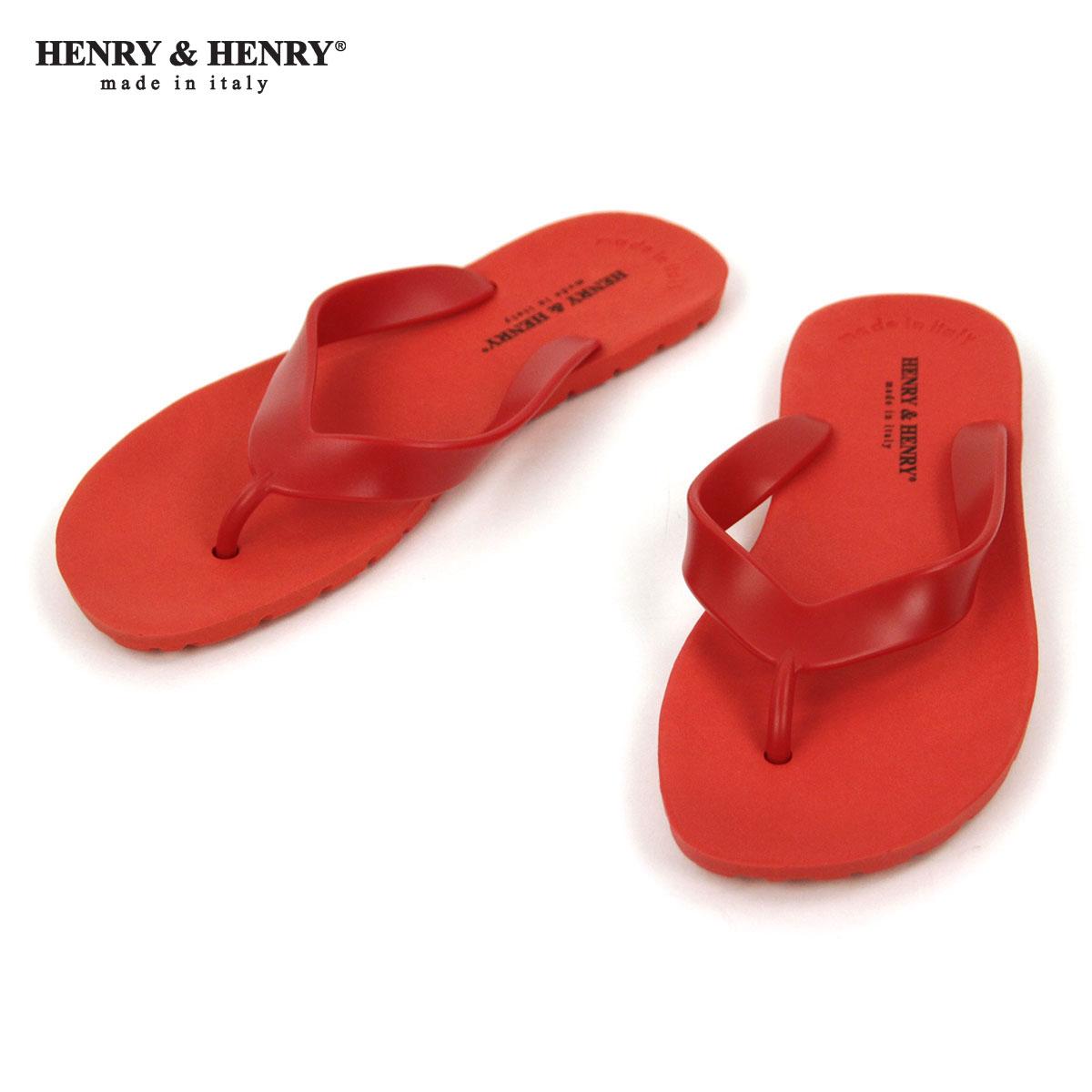 ヘンリーアンドヘンリー HENRY&HENRY 正規販売店 サンダル フリッパー FRIPPER SANDAL ROSSO 17 A66B B3C C4D D3E E11F