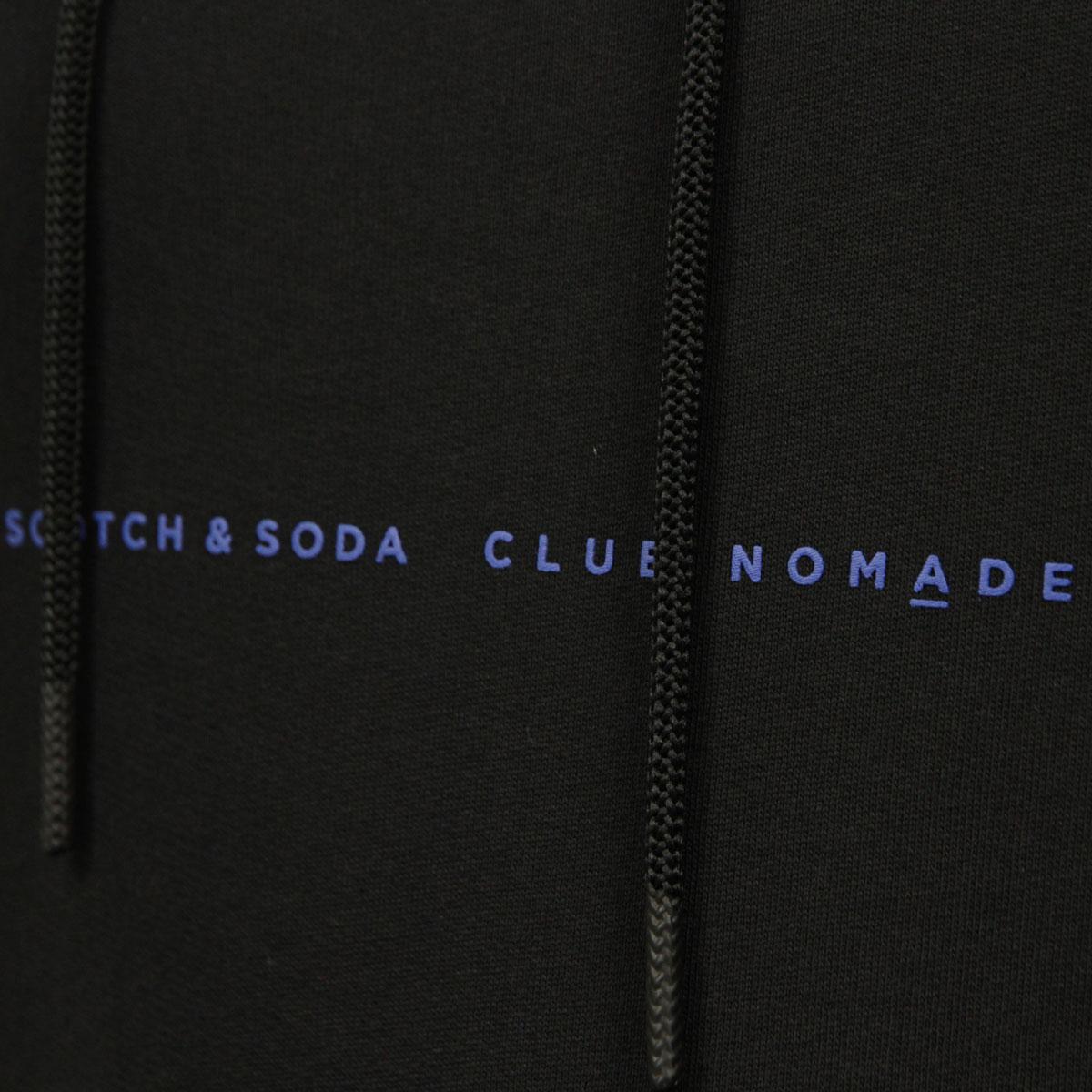 スコッチアンドソーダ パーカー メンズ 正規販売店 SCOTCH&SODA プルオーバーパーカー CLUB NOMADE SIGNATURE HOODY BLACK 150516 83810 08 D A39B B1C C1D D5E E13F