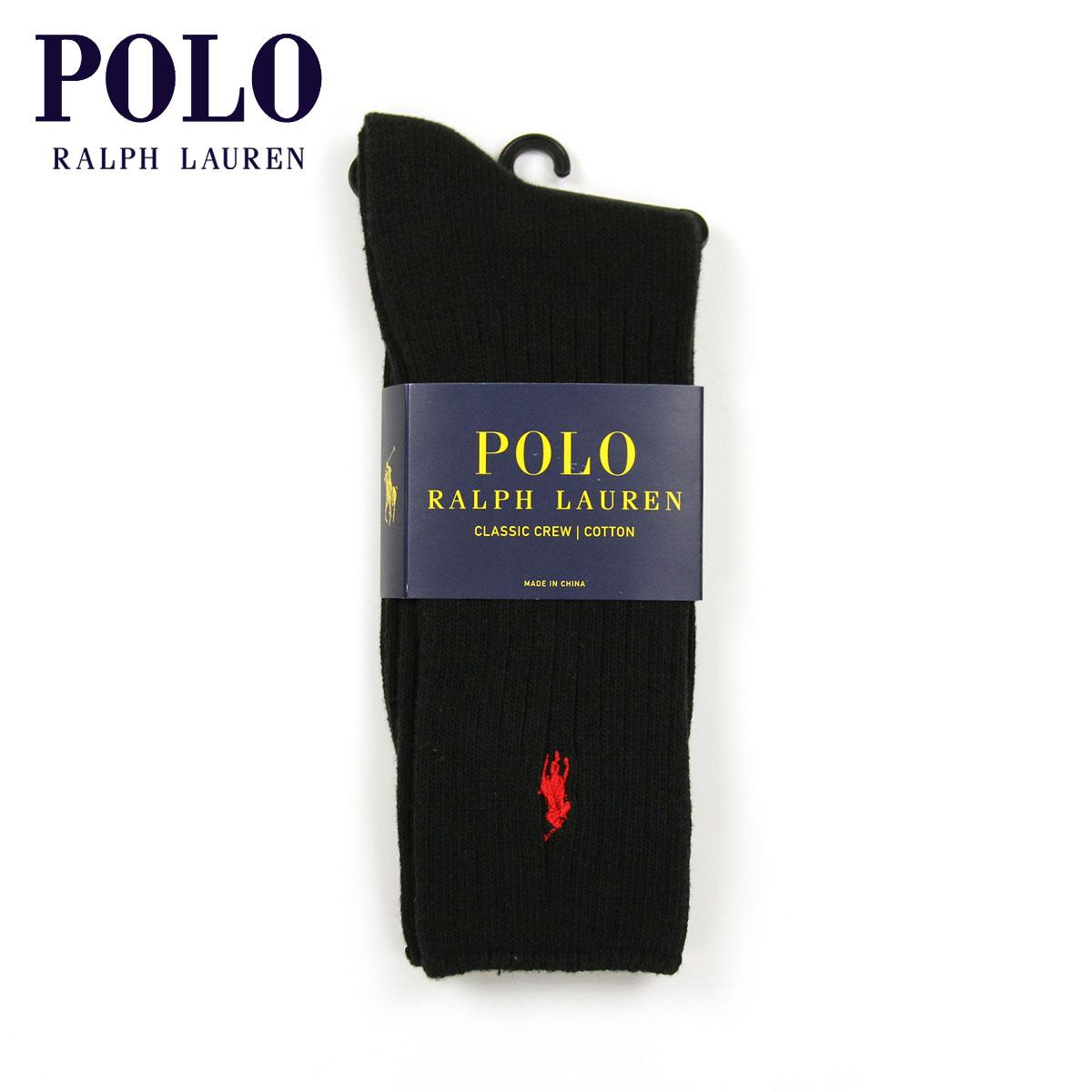 ポロ ラルフローレン POLO RALPH LAUREN 正規品 ソックス COTTON RIB SINGLE SOCK BLACK 001 - BLACK A05B B1C C3D D1E E13F