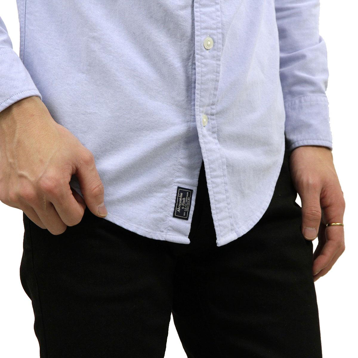 アバクロ シャツ メンズ 正規品 Abercrombie&Fitch 長袖シャツ ボタンダウンシャツ OXFORD SHIRT 125-125-1013-800 A02B B1C C1D D6E E07F