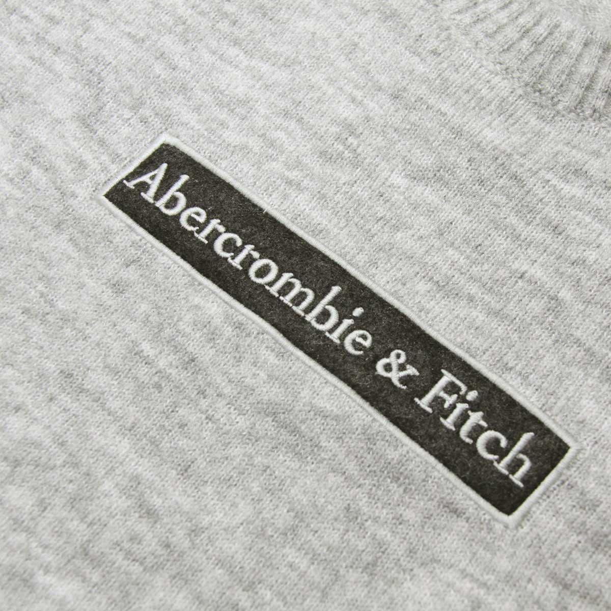 アバクロ セーター メンズ 正規品 Abercrombie&Fitch クルーネックセーター ロゴ LOGO SWEATER 120-201-1662-120 A02B B1C C1D D7E E02F