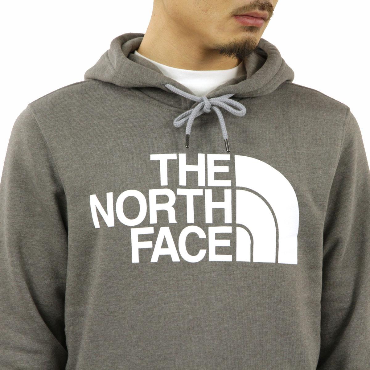 ノースフェイス パーカー メンズ 正規品 THE NORTH FACE プルオーバーパーカー ロゴ THE NORTH FACE M HALF DOME PULLOVER HOODIE TNF MEDIUM GREY HEATHER NF0A4M4B A14B B1C C1D D5E E02F
