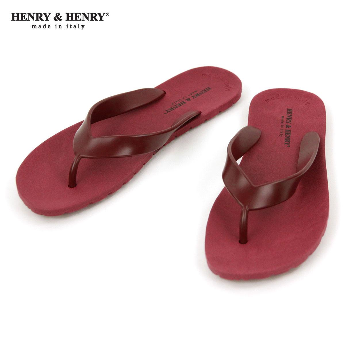 ヘンリーアンドヘンリー HENRY&HENRY 正規販売店 サンダル フリッパー FRIPPER SANDAL WINE 18 A66B B3C C4D D3E E11F