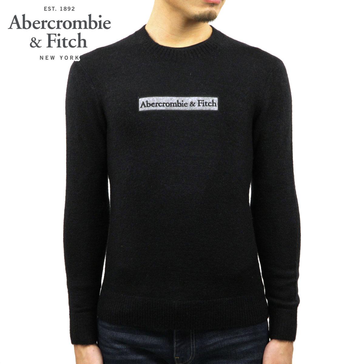 アバクロ セーター メンズ 正規品 Abercrombie&Fitch クルーネックセーター ロゴ LOGO SWEATER 120-201-1662-900 A02B B1C C1D D7E E13F