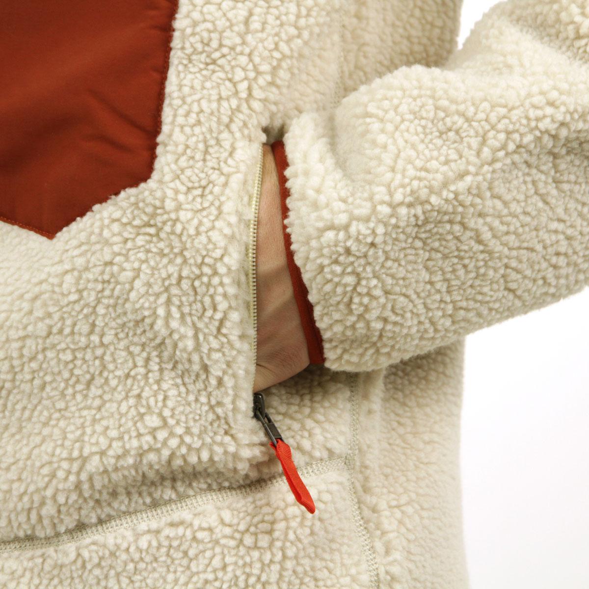 パタゴニア ジャケット メンズ 正規品 patagonia レトロX ボアジャケット MEN'S CLASSIC RETRO-X FLEECE JACKET NATURAL W/BARN RED 23056 A53B B1C C1D D4E E18F