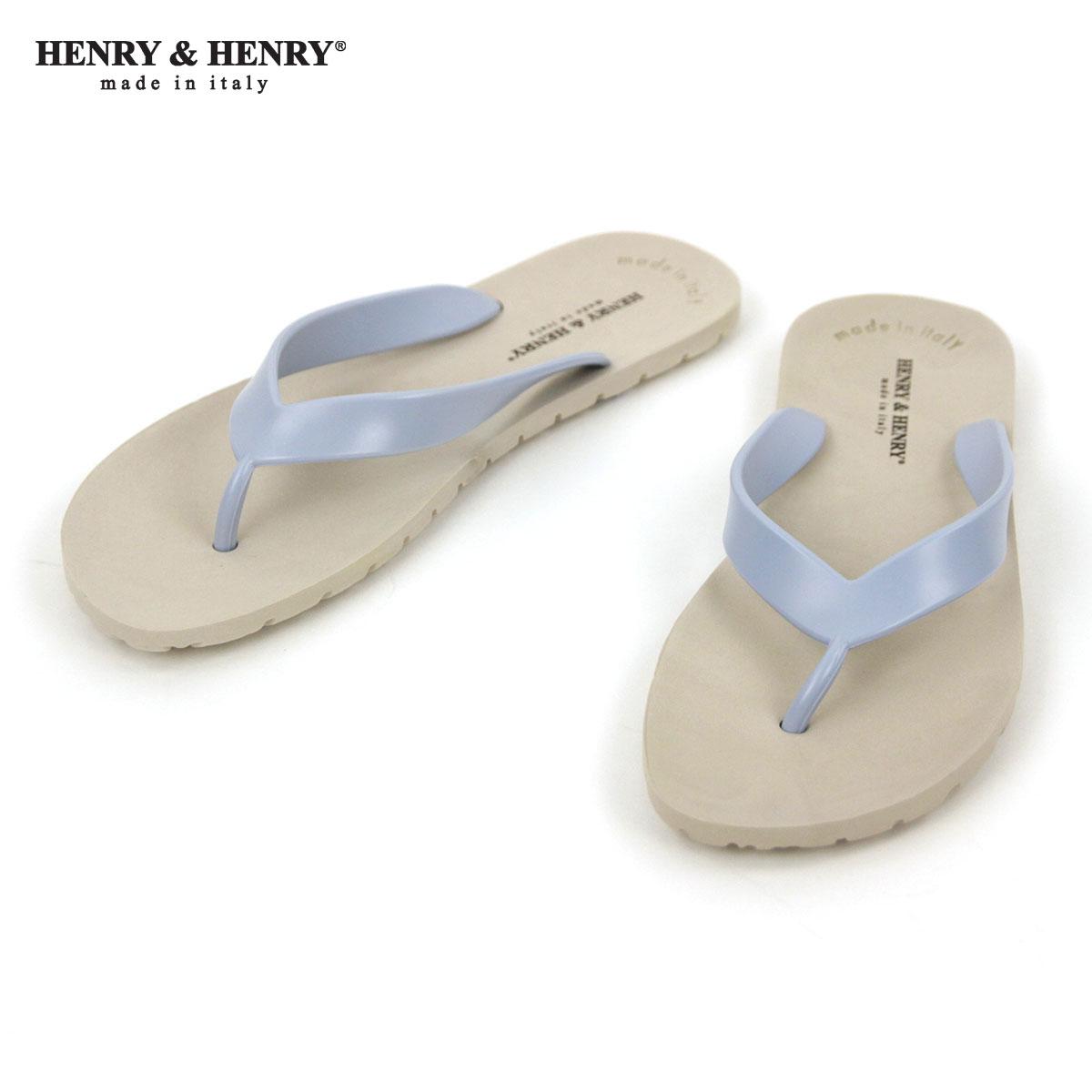ヘンリーアンドヘンリー HENRY&HENRY 正規販売店 サンダル フリッパー FRIPPER SANDAL BEIGE / SKY 45/46 A66B B3C C4D D3E E05F