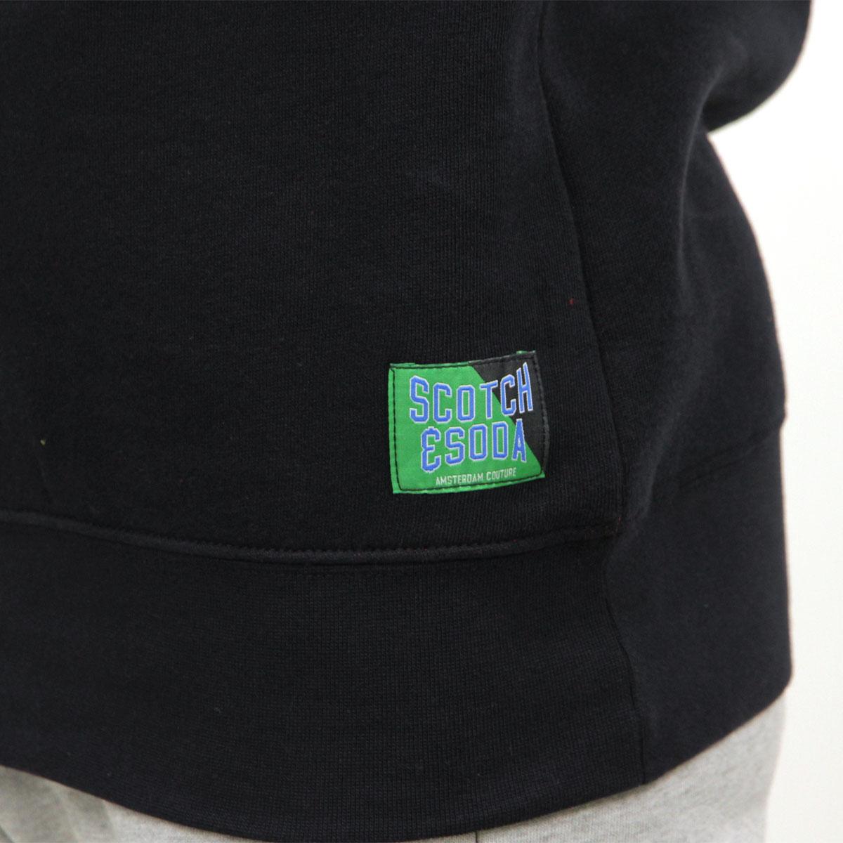 スコッチアンドソーダ パーカー メンズ 正規販売店 SCOTCH&SODA ジップアップパーカー CLASSIC HALF-ZIP HOODY NIGHT 152216 83808 08 A39B B1C C1D D5E E06F