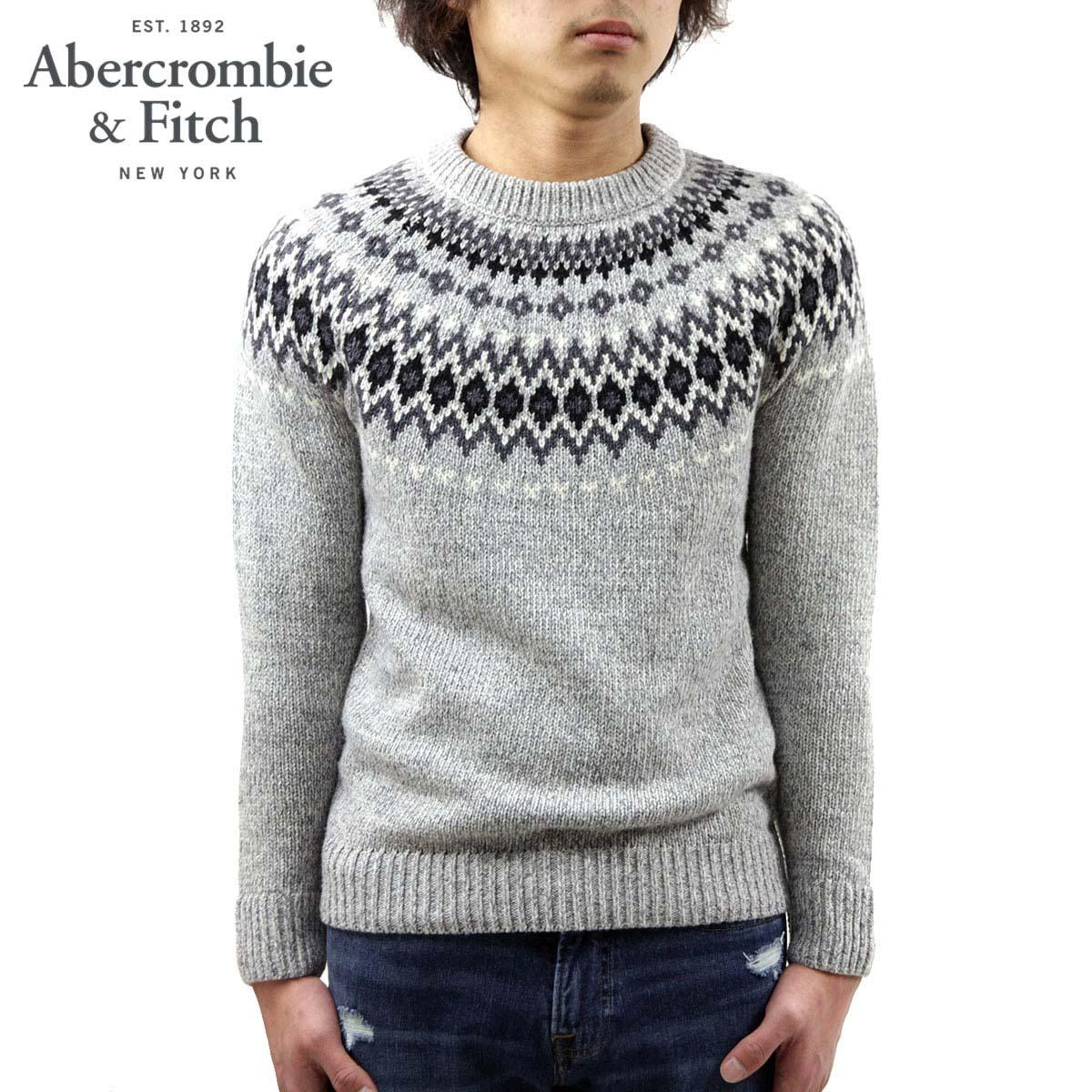 アバクロ セーター メンズ 正規品 Abercrombie&Fitch クルーネックセーター FAIR ISLE CREWNECK SWEATER 120-201-1664-133 A02B B1C C1D D7E E02F