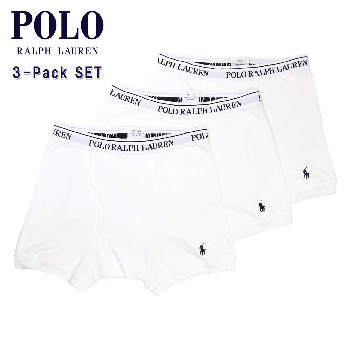 ポロ ラルフローレン POLO RALPH LAUREN 正規品 メンズ ボクサーブリーフ3パック Boxer Brief 3-Pack 4023369 WHITE  A05B B1C C7D D2E E01F